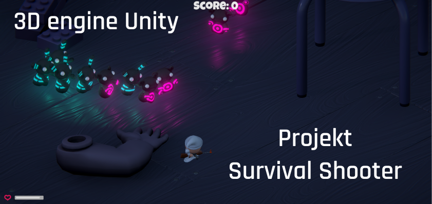 3D engine Unity – projekt Survival Shooter